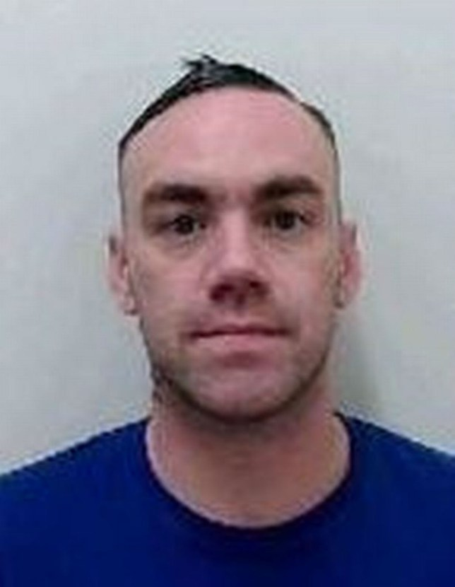 Daniel Thompson, 34, failed to report for roll call at 4.45pm on Friday at Leyhill Prison