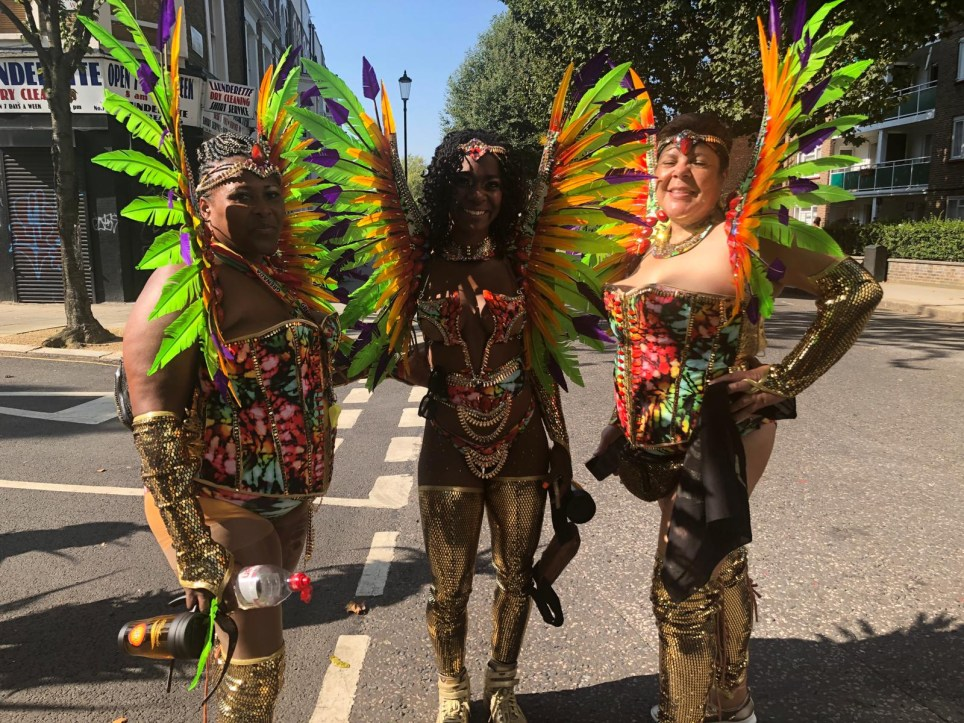 Female festival-goers at Notting Hill Carnival 2019 (Picture: Faima Bakar)