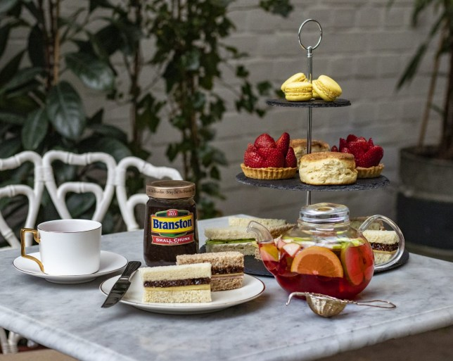 An afternoon tea featuring the Branston Pickle tea