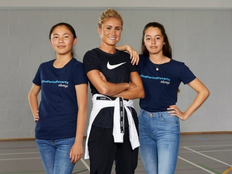 Lioness Steph Houghton calls for end to period poverty