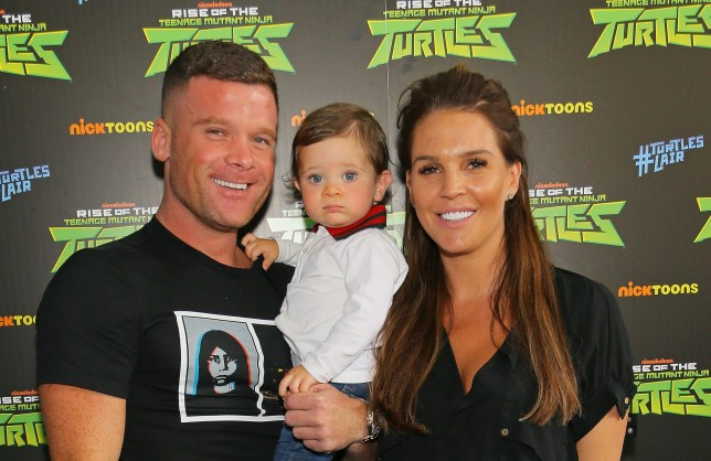 Danielle Lloyd with husband and son