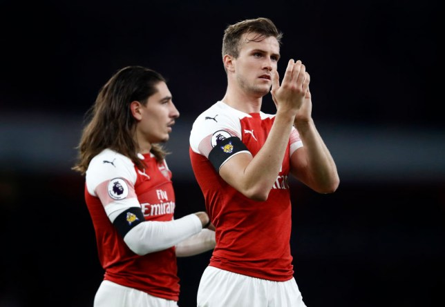 Hector Bellerin and Rob Holding