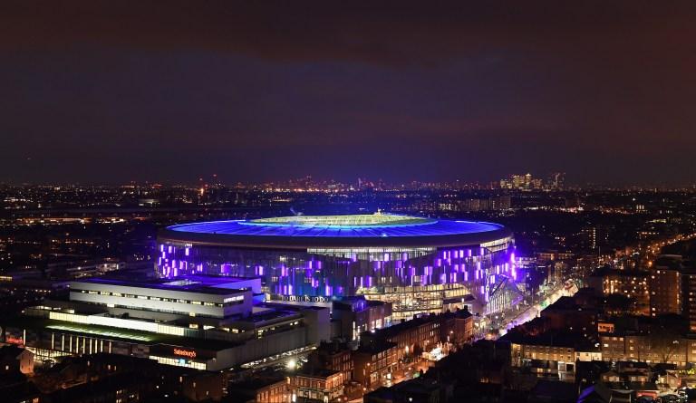 Aerial view of the Tottenham Hotspur stadium