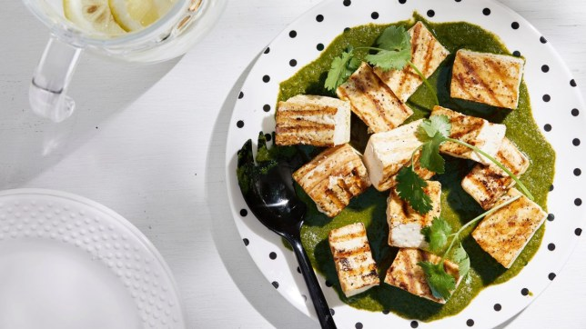 Grilled Tofu With Ginger-Cilantro Sauce