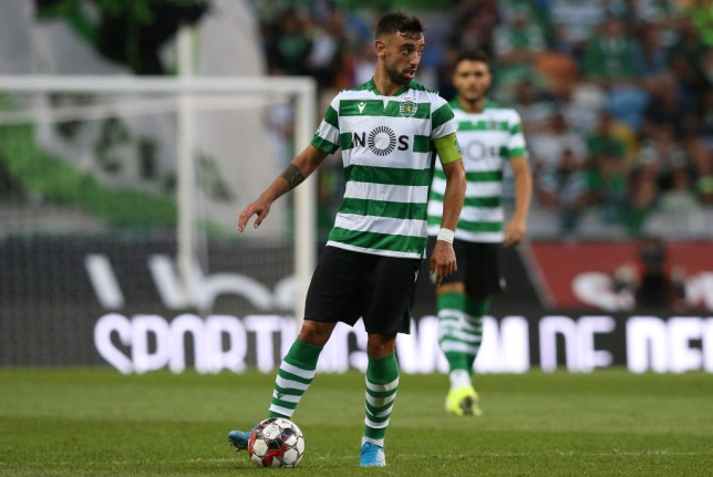 Bruno Fernandes in possession for Sporting Lisbon against Valencia