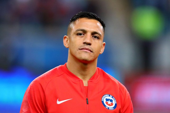 Manchester United ace Alexis Sanchez looks on during the Copa America