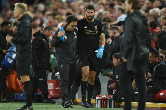 Liverpool goalkeeper Alisson is recovering from a calf injury