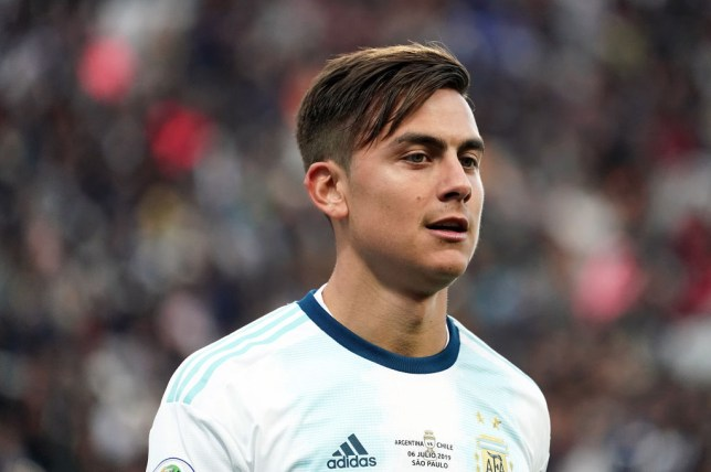 Juventus attacker Paulo Dybala looks on