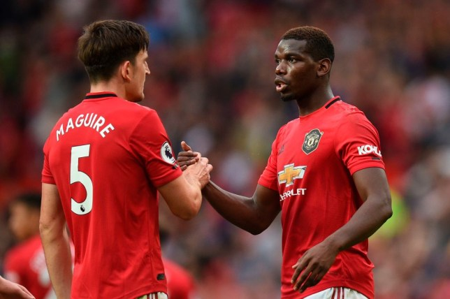 Harry Maguire and Paul Pogba