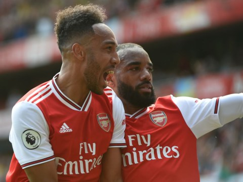 Pierre-Emerick Aubameyang claims Arsenal's 'crazy' front three can match Liverpool trio