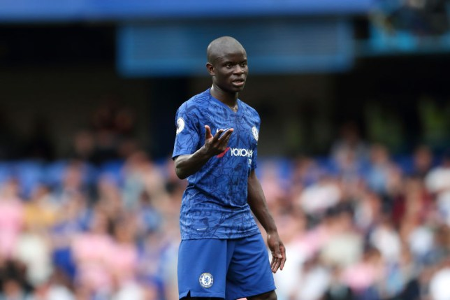 N'Golo Kante in action for Chelsea against Leicester City
