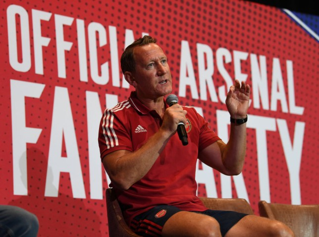 Former Arsenal ace Ray Parlour speaks at an event