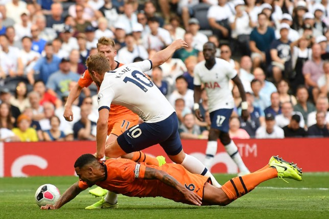 Jamaal Lascelles appeared to take Harry Kane out in the box