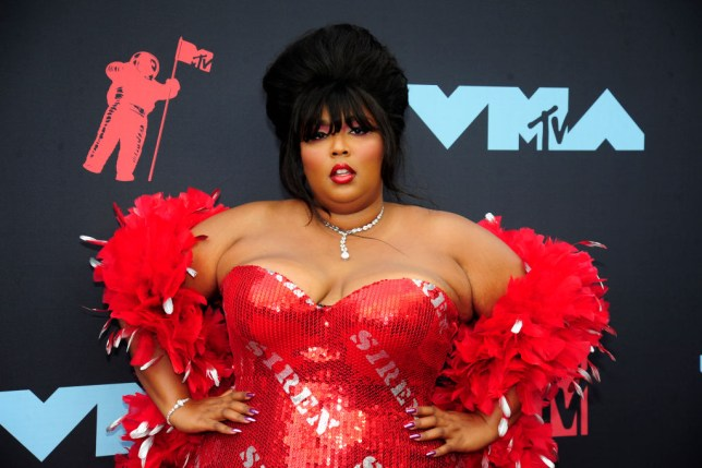 Lizzo on the red carpet at the 2019 MTV Video Music Awards