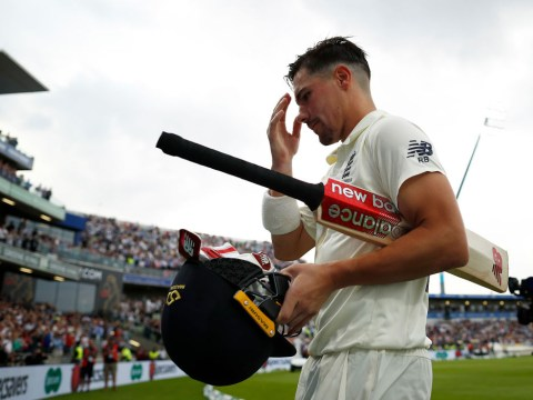 England batsman Rory Burns reacts to emotional maiden Ashes century