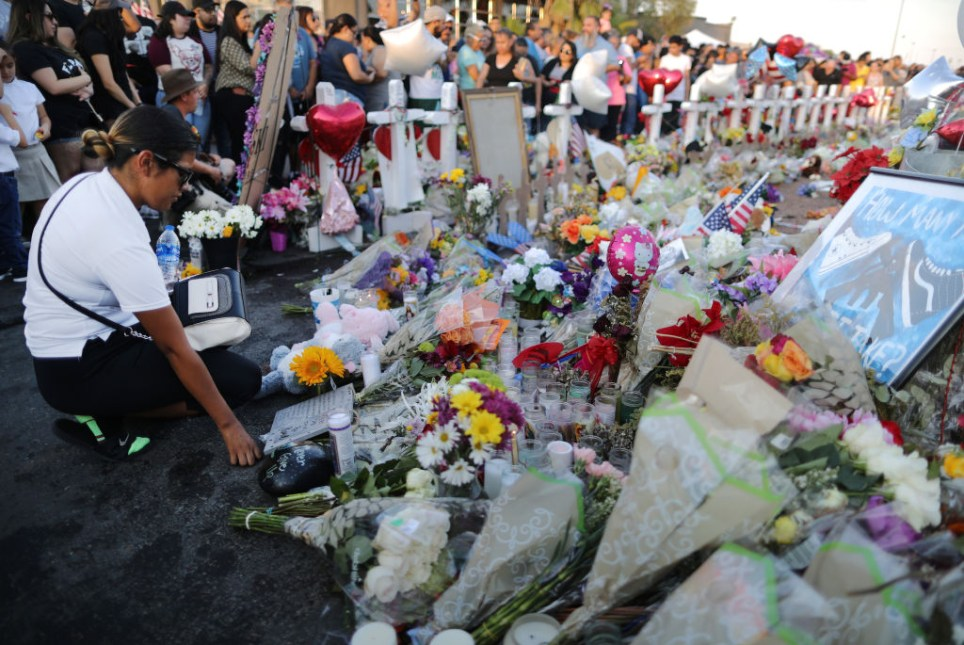 Candles and flowers in El Paso after Saturday's shooting