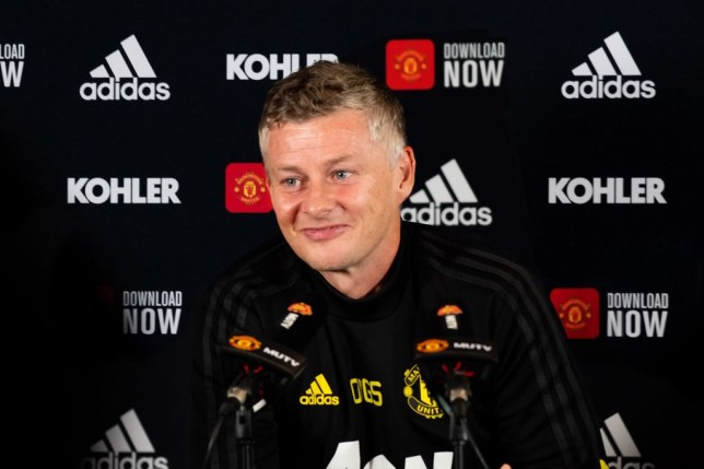 Manchester United manager Ole Gunnar Solskjear answers questions at a press conference