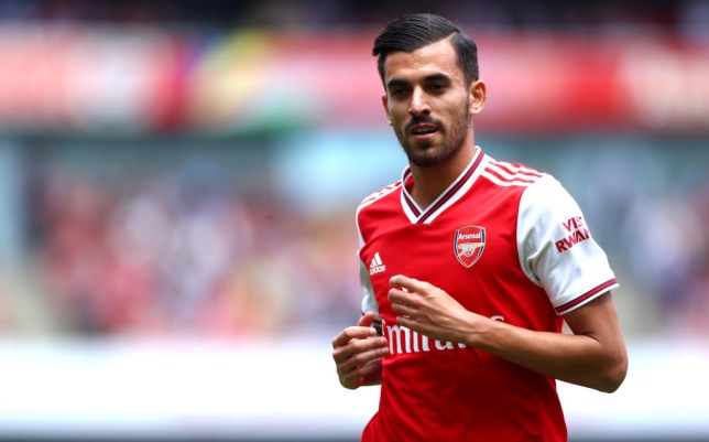 Dani Ceballos jogs during Arsenal's win over Burnley at the Emirates