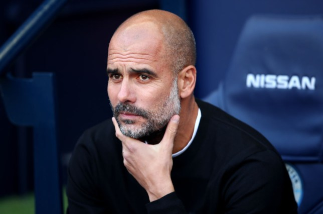 Pep Guardiola were furious that his side were denied a penalty (Picture: Getty)