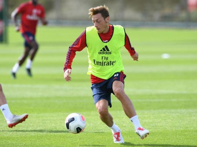 Mesut Ozil missed Arsenal's last game through illness