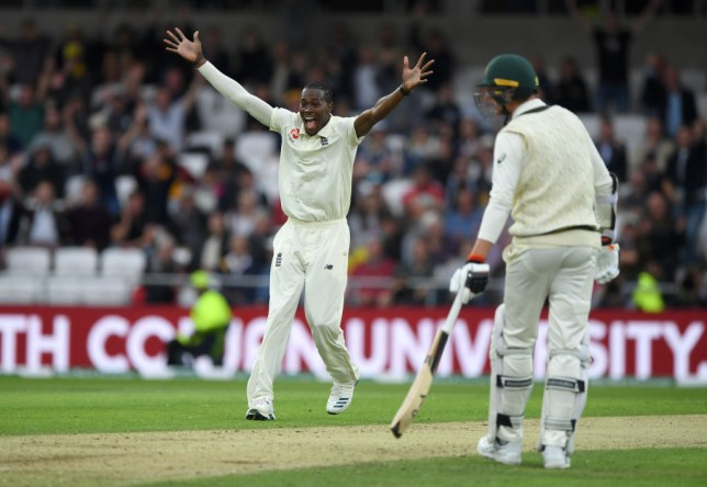 Jofra Archer claimed his first fifer as England skittled Australia on day one of the third Ashes Test at Headingley
