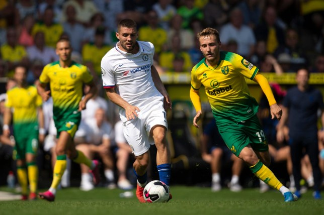 Mateo Kovacic dribbles forward during Chelsea's win over Norwich