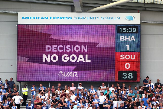 Brighton are denied a goal against Southampton following a VAR check