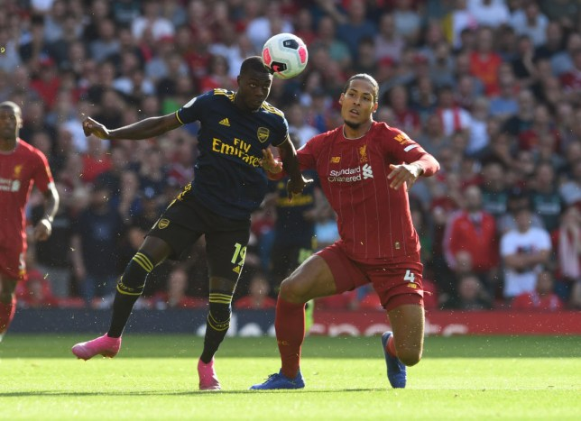 Nicolas Pepe started for the first time against Liverpool