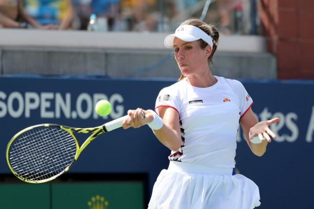 Johanna Konta advances to US Open second round as Harriet Dart tumbles out
