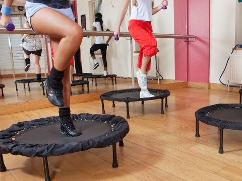 Bounce your way to a toned bum and thighs with this rebounding workout