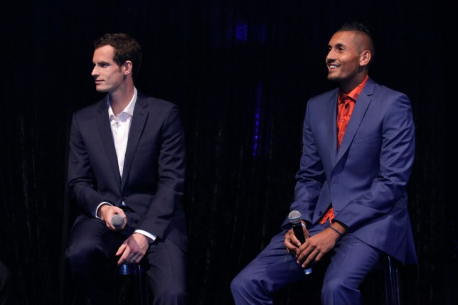 Andy Murray and Nick Kyrgios are known as good friends off the court