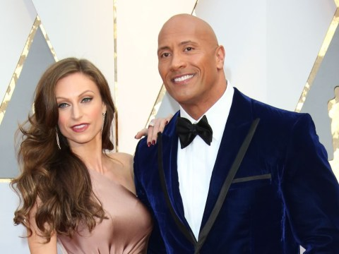 Who is Dwayne Johnson's wife Lauren Hashian and where was their wedding?