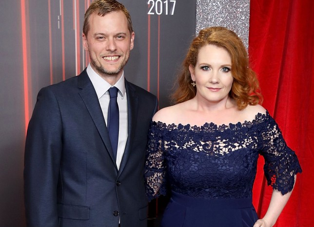 Coronation Streets Jennie McAlpine and husband Chris Farr attend The British Soap Awards at the Lowry Theatre