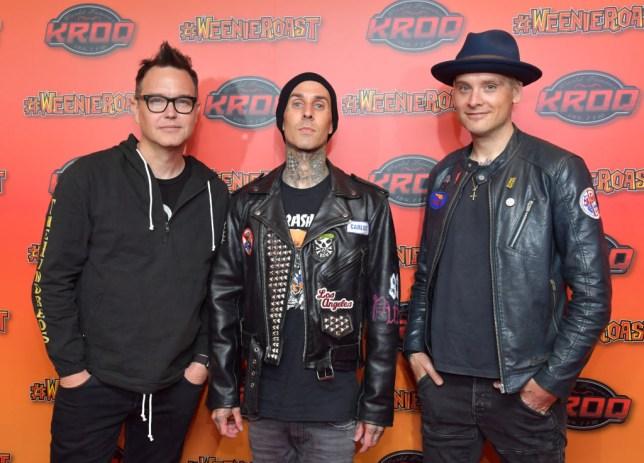 Blink-182's Travis Barker, Mark Hoppus, Matt Skiba