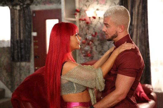 Goldie and Joel in Hollyoaks