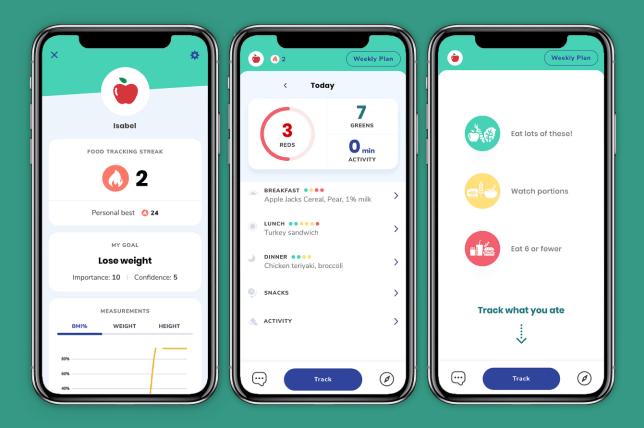 A screenshot of the Kurbo children's weight loss app