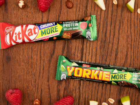 Nestle launches brand new KitKat and Yorkie bars
