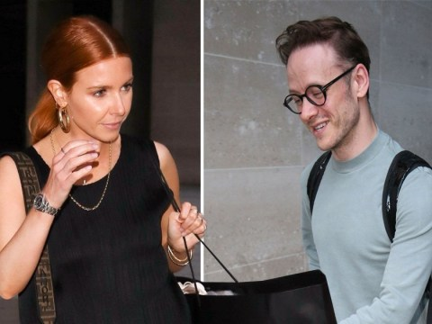 Stacey Dooley keeps her cool leaving BBC Studios separately to Kevin Clifton after huge Strictly celeb reveal