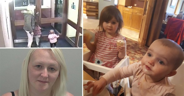 Louise Porton and her murdered daughters Lexi and Scarlett