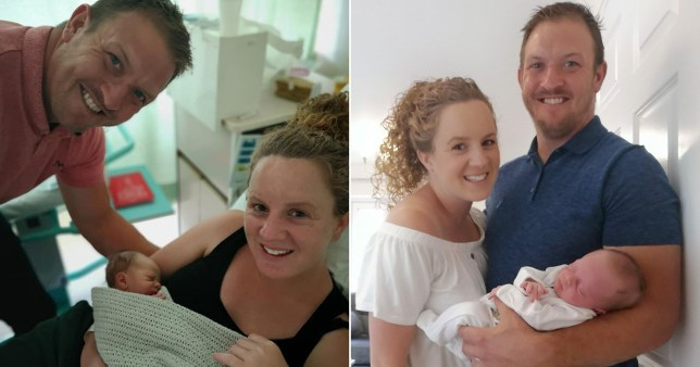 Kim and Nick Sevier's son Jack was born after the pair were at Newbury Racecourse, Berkshire
