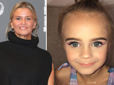 Kerry Katona treats daughter DJ to girly makeover as youngster mourns father George Kay's death