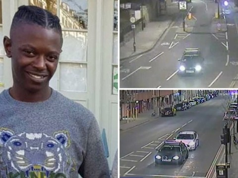Moment killers speed off in getaway car after stabbing man to death