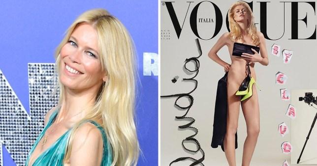 Claudia Schiffer on Vogue Italia
