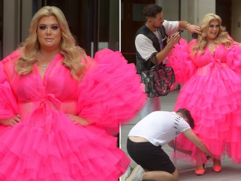 We can only aspire to be as extra as Gemma Collins in this ruffled pink gown