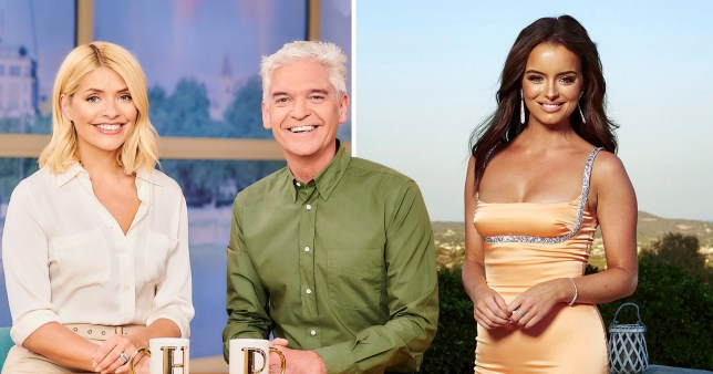 Holly Willoughby, Philip Schofield and Maura Higgins