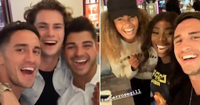 Amber Gill and Greg O'Shea had a cute Love Island reunion