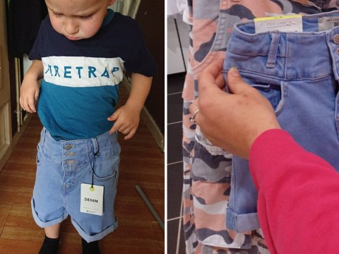 10-year-old girl thinks she has 'fat thighs' because her shorts are so small they fit her three-year-old brother