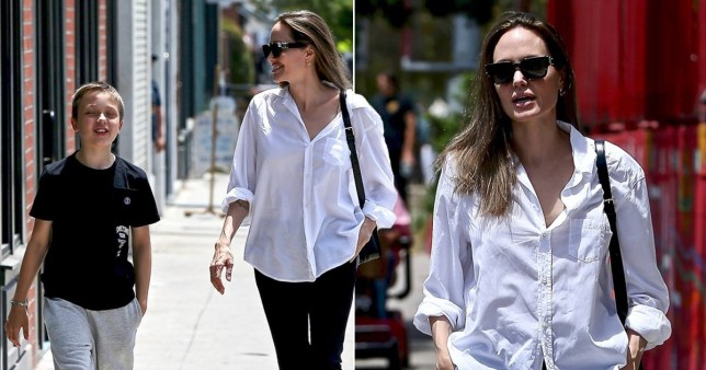 Angelina Jolie steps out with son Knox