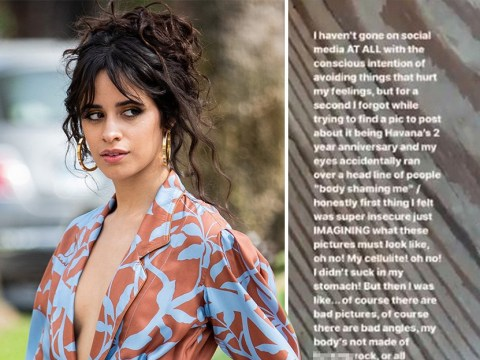 Camila Cabello hits back at bodyshamers in the best way: 'Cellulite is normal, I won't buy into the BS today'
