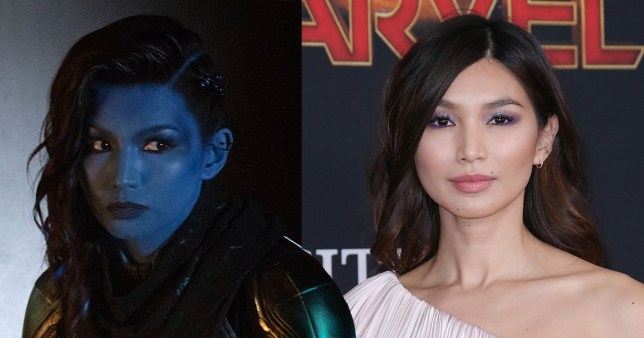Gemma Chan and her Captain America character Minn-Erva